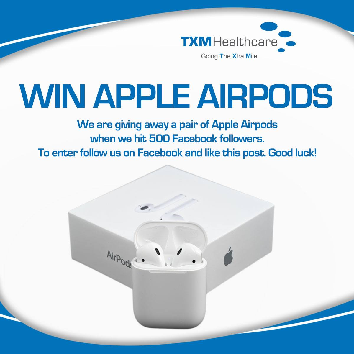 COMPETITION: TXM Healthcare are giving away a pair of Apple Airpods to celebrate…