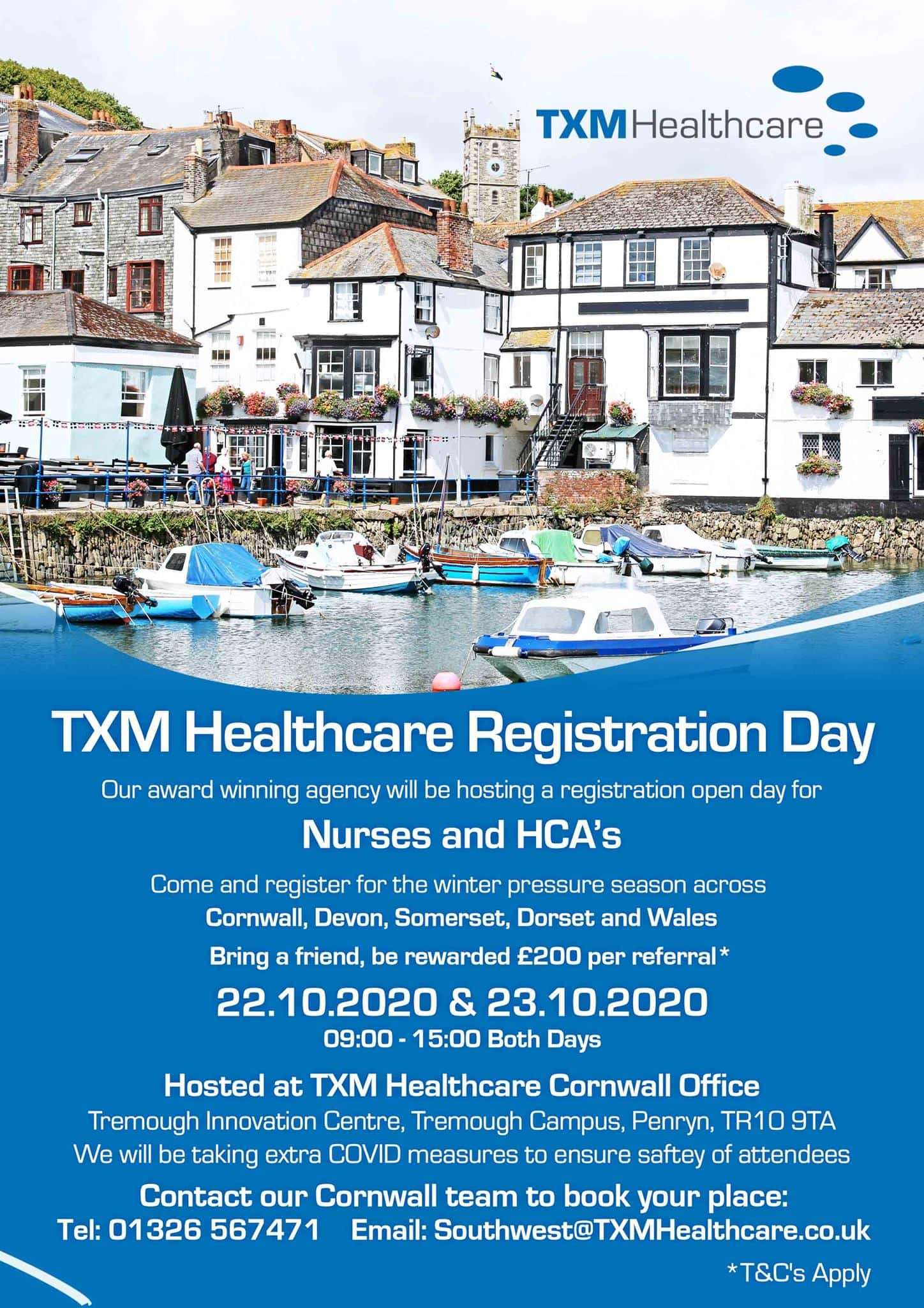 Have you registered for our Cornwall Open-Day Event yet? We are holding a recrui…