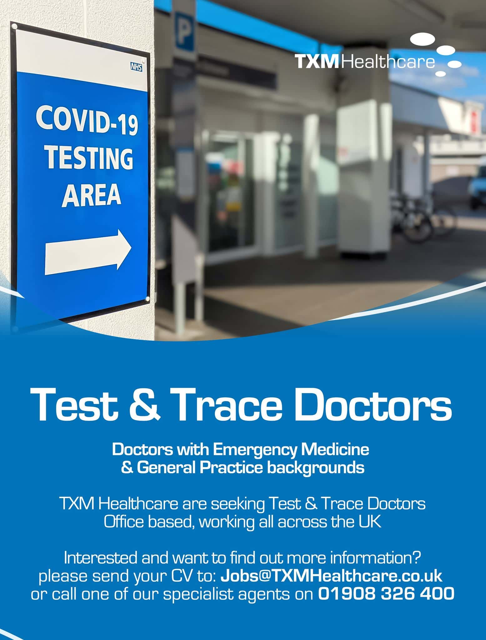TEST & TRACE: Join the Covid19 test and trace workforce. We're looking for d…