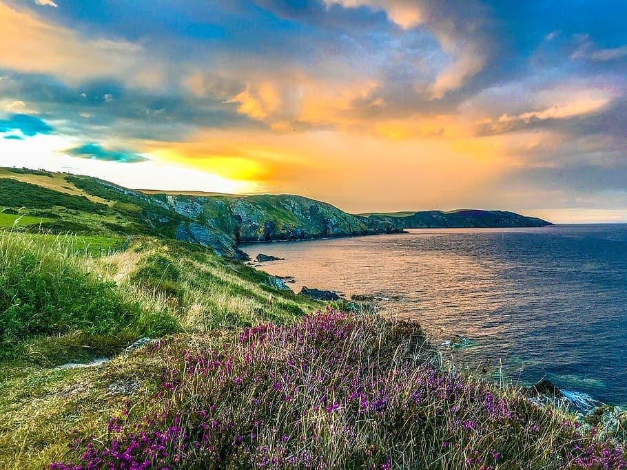 isle-of-man-port-grenaugh-hills-sunset